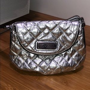Marc by Marc Jacobs silver leather quilted bag